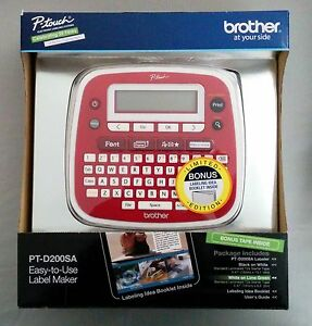 new Brother P touch Pt d200sa Label Maker Limited Edition With Bonus Tape