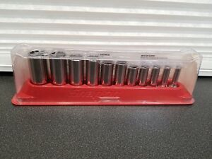 Snap on 211sfy 11 Piece 3 8 Dr Deep Socket Set 1 4 7 8 12 Point New