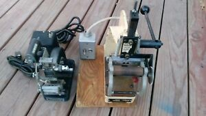 Two 2 Total Vintage Kingsley Hot Foil Stamping Machines Heats Up Hot
