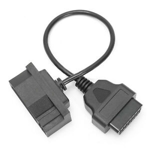 Black Diagnostic Scanner Adapter Cable 7pin Male Obd1 To Obd2 Obdii For Ford Efi