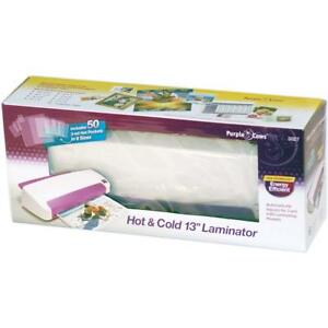 Purple Cows Hot And Cold Laminator 13 inch With 50 Hot Pockets 3027