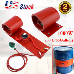200l 55gallon 1000w 240v Silicon Rubber Band Heater For Metal Oil Drum Heating S