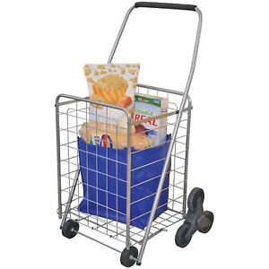 Grocery Cart Folding Stair Climbing Shopping Portable Trolley Rolling Utility