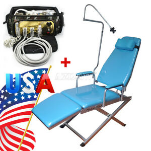Usps Dental Portable Simple Type folding Chair turbine Unit Air Compressor