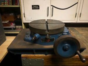 Troyke 12 Rotary Table Bh12 Good Condition With Sturdy Steel Base Table