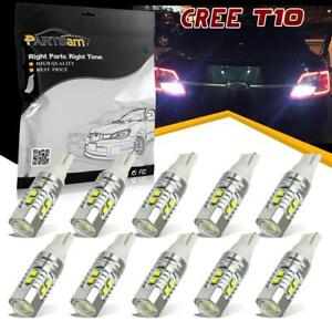 10pcs pack T10 921 912 50w Cree Led Backup Reverse Light Bulb Projector Lamp