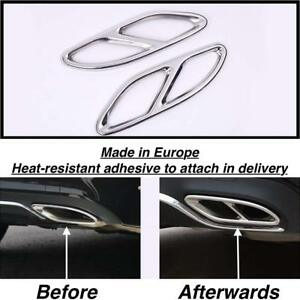 2x Chrome Rear Cylinder Exhaust Pipe Cover Trim Mercedes B class W246 us