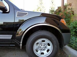 Fits The Nissan Frontier 2005 2015 Polished Stainless Steel Fender Trim 4 Pc