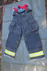 Globe Gx 7 Firefighters Black Pants Trouser With Suspenders Size 34x30