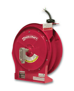 Reelcraft L 5550 124 x Power Cord Reel 12 4 50ft 15 Amp Flying Lead