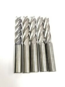 Lot Of 5 Solid Carbide End Mills 4 oal 50 Dia
