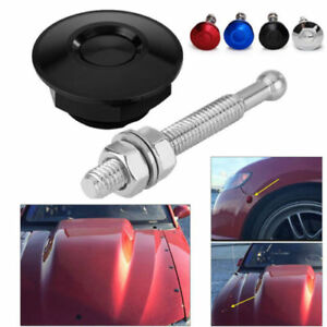 Practical Push Button Billet Hood Pins Lock Clip Car Quick Latch Bonnet Qp