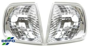 Fit 1996 april 1997 Early Ford F150 Clear Corner Signal Park Lights Pair Depo