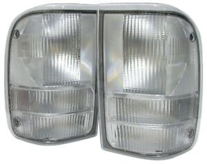 Fits 1993 2000 Ford Ranger All Clear Tail Lights Rare Find