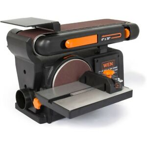 Sander Belt Disc Electric Benchtop Power Wood Combo 2-In-1 Bench Machine Home