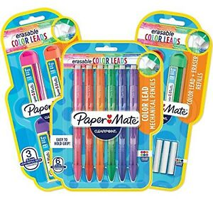Paper Mate Clearpoint Color Lead And Eraser Mechanical Pencil Refills 0 7mm 6