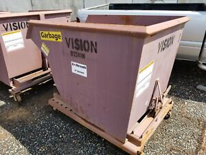 Galbreath Self Dumping Hoppers Dumpster Container 1 1 2 Yard For Forklifts