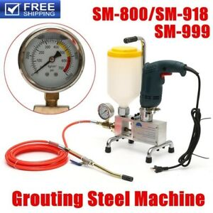 Epoxy Injection Polyurethane Foam Grouting Machine Steel Hose Concrete Repair