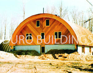 Durospan Steel 30x32x14 Metal Quonset Barn Building Kit Open Ends Factory Direct