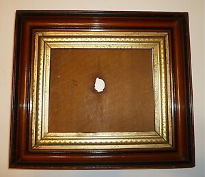 Antique Eastlake Walnut Gilt Picture Frame For An 8 By 10 Painting Photo