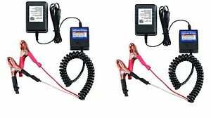 2 Pack 12v Automatic Car marine battery Float trickle Charger safety Turn Off