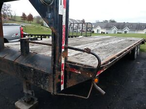 2000 Pequea 25 Gooseneck Trailer Dovetail And Ramps 14000 Gvw Used Wood Deck