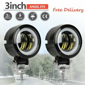 3 Inch 20w Cree Led Spot Round Work Lights Driving Pods Offroad Motorcycle 2pcs