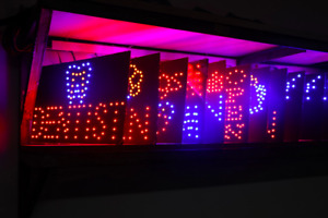 Horizontal Vertical Open Closed Led Sign Business Pleasure Neon