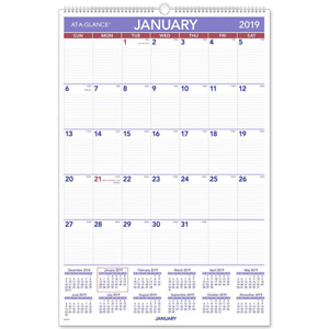 At a glance 2019 Monthly Wall Calendar 20 X 30 Xlarge Wirebound pm428