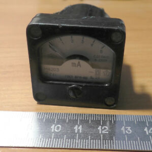 Small Ussr Miliammeter M4203 5ma 2 5 1991 Military Use
