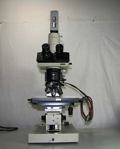 Olympus Bhmjl Series Microscope Trinocular Head With Mtv 3 Sonny Ccd Camera