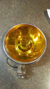 Vintage Aris Fog Lights Amber Iodine Lens Lamps Hot Rod Rat Truck Cruiser Baja