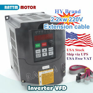 Us Hy Cnc 2 2kw 220v 3hp Variable Frequency Drive Inverter Vfd vsd Speed Control