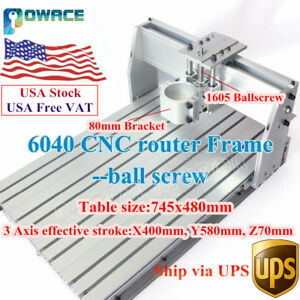 usa desktop 6040 Cnc Engraving Router Machine Frame 1605 Ballscrew