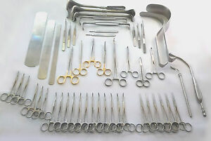 Basic Laparotomy Set 104 Pcs Surgical Instruments Surgery Medical Abdominal Gold