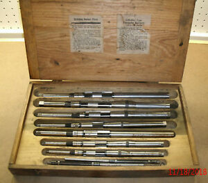 Vintage Snap on Blue point Critchley Type Expansion Reamer Set W wood Box