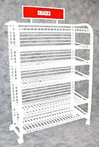 6 Shelf Candy Display Rack In White 51 75 H X 13 D X 38 375 L Inches