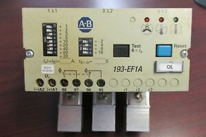 Allen Bradley Overload Relay 193 ef1a Used