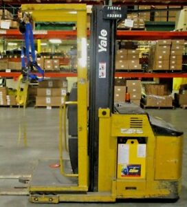 Yale Electric Order Picker Lift Truck Model Os030ecn24te089 24 Volts 195 Lift