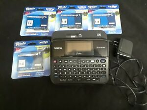Brother P touch Pt d600 Label Maker W Color Display 4 New Tze 111 Tape