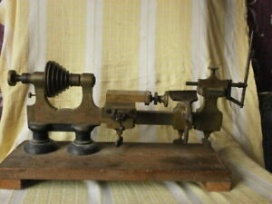 Antique Brass Watchmakers Clockmakers Lathe