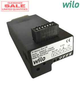 Wilo 2030475 Interface Module External Off 0 10v Dc dual Pump For Z d Stratos
