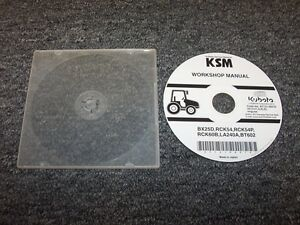 Kubota Bx25d Rck54 Rck54p Tractor Workshop Shop Service Repair Manual Dvd