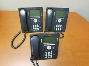 set Of 3 Avaya 9608 Ip Phone 9608d01a 1009