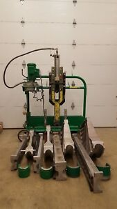 Greenlee 881ct Pipe Bender W Hydraulic Pump Mobile Bending Table 2 1 2 To 4
