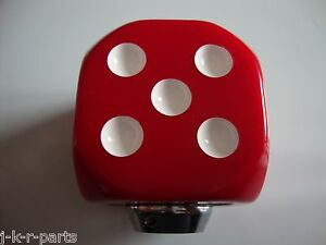 Red Dice Shift Knob Car Truck Hot Rod Rat Rod Custom Classic 70013