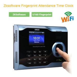 U160 c Fingerprint Reader Time Attendance Time Clock W Tcp ip Ethernet Ports