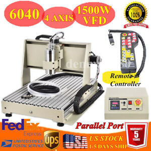 4 Axis Engraver Cnc Router 6040z Engraving Drilling Milling Machine Woodwork Rc