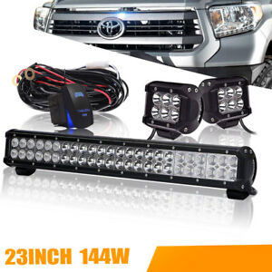23 144w Led Light Bar Combo For Offroad Driving Truck Atv With Wiring Harness
