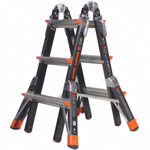 Little Giant 13 Ft Fiberglass Multipurpose Ladder 375 Lb 15143 001